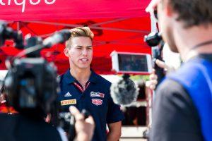 Policaro Motorsport Driver, Jeff Kingsley being interviewed