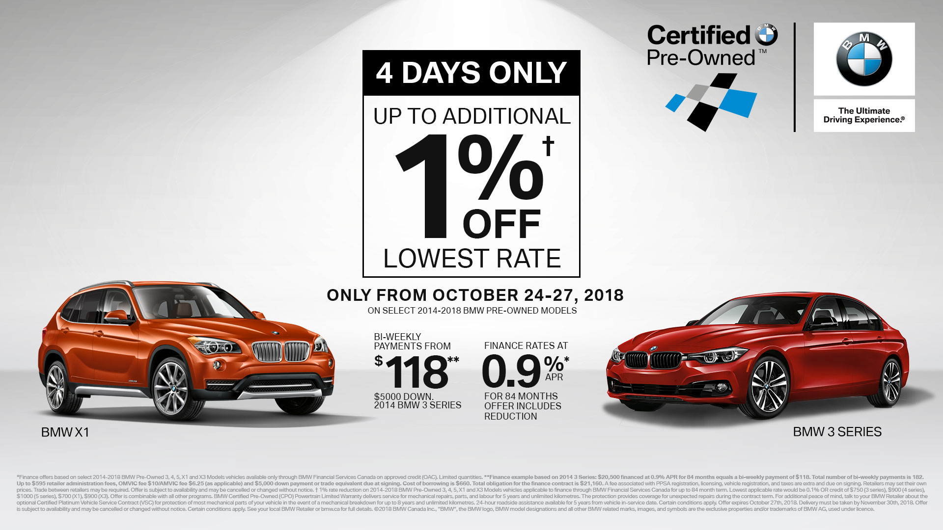 BMW Pre Owned >> Pre Owned Fall Sales Event At Policaro Bmw